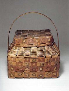 Onondaga Ash Basket  --  1840's --  New York  --  Metropolitan Museum of Art