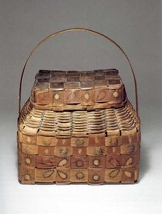 Onondaga ash basket , 1840's New York