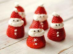 Ricette di Natale per i bambini: piccoli Babbi Natale di fragole