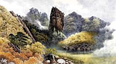 (North Korea) 명경대 in Mt. Geumgang by Lee Young-sik (1968-   ).