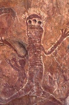 Australian Aboriginal Art Rock Painting in the Kimberleys - Western Australian Tourism