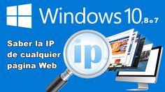 Conoce la IP de cualquier página Web sin usar ningún programa desde tu ordenador con Windows 10, 8 o 7. #Windows #Microsoft #IP #Web #Internet #PaginaWeb #ControlParental downloadsource.es