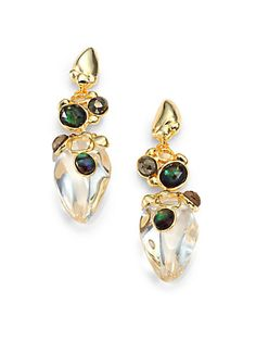 Alexis Bittar - Stone-Detailed Lucite Drop Earrings - Saks.com
