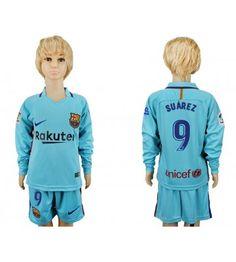 Barcelona Messi Away Long Sleeves Kid Soccer Club Jersey Messi 10, Lionel Messi, Kids Soccer, Neymar Jr, Fc Barcelona, Youth, Graphic Sweatshirt, Sweatshirts, Sweaters