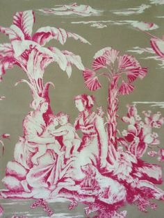 Beautiful French toile fabric