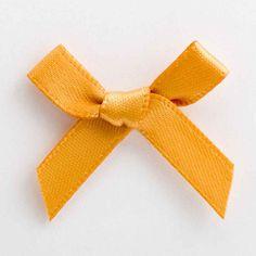 Antique Gold Satin Ribbon Bows