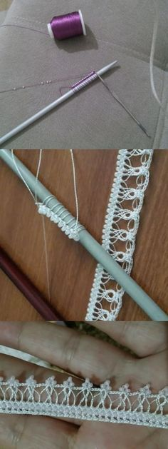 Şiş Oyası Crochet Lace Edging, Knit Crochet, Baby Knitting Patterns, Lace Knitting, Scream Meme, Hairpin Lace, Shadow Puppets, Hair Pins, Diy And Crafts