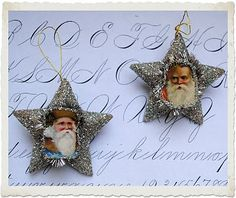 Crafty Christmas Project - Santa Star Ornaments and Printable - The Graphics Fairy