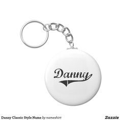 Danny Classic Style Name Basic Round Button Keychain