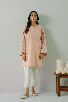 EMBROIDERED SHIRT (WTR211367) | ETHNIC