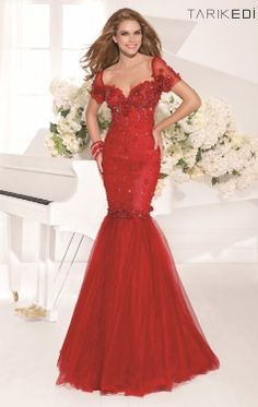 577ef668a2c Embellished Mermaid Gown by Tarik Ediz