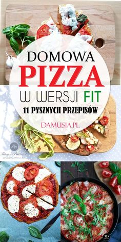 Domowa Pizza w Wersji FIT – 11 Pysznych Przepisów Health Diet, Health Fitness, Smoothies, Vegan Recipes, Food And Drink, Healthy Eating, Meals, Baking, Dinner