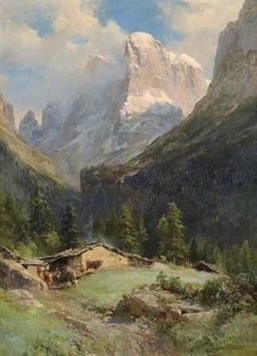 View Cima di Brenta, Dolomiten by Edward Theodore Compton on artnet. Browse upcoming and past auction lots by Edward Theodore Compton. Watercolor Landscape, Landscape Art, Landscape Paintings, Watercolor Paintings, Beautiful Paintings Of Nature, Great Paintings, Digital Paintings, Mountain Art, Mountain Landscape