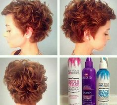 Wavy Curly Short Pixie Side View