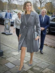 On November 18, 2016, Dutch Queen Maxima attends the presentation of the annual report 2016 'State of the SME's of the Dutch committee for Entrepreneurship and Finance at the day of Entrepreneurship in Voorschoten. Queen Maxima is present in her capacity