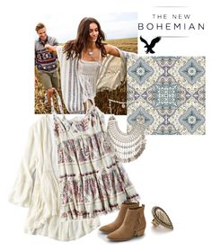 """The New Bohemian with American Eagle Outfitters: Contest Entry"" by bellrae ❤ liked on Polyvore featuring American Eagle Outfitters, Samantha Wills and aeostyle"