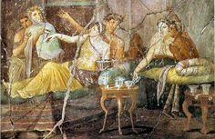 Etruscan fresco from Pompeii.