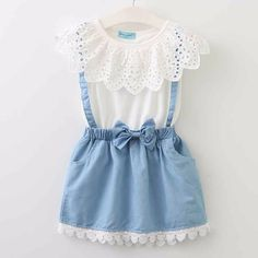 2018 New girls cute dress,white princess belt lace dress sleeveless cotton summer dress lovely baby girls clothes 3-7 Years