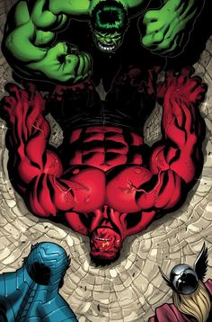 #Red #Hulk #Fan #Art. (Hulk takes down Red Hulk) By: Ed McGuinness. (THE * 5 * STÅR * ÅWARD * OF: * AW YEAH, IT'S MAJOR ÅWESOMENESS!!!™)[THANK U 4 PINNING!!!<·><]<©>ÅÅÅ+(OB4E)