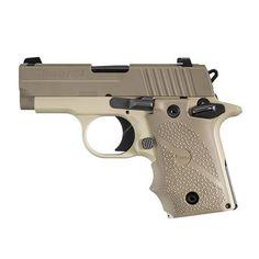 The Sig Sauer P238 .380 ACP semi-auto handgun in Desert Tan has a lot of…