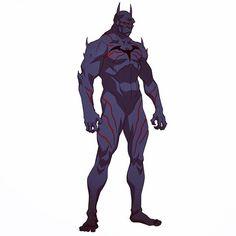 Instagram media by philbourassa - Bat demon hallucination in #jldark This design was partly inspired by Jonathan Crane's hallucination in Batman Begins. Had a blast coming up with the nightmares  and freaks for this movie! #justiceleaguedark #batman #demon #dcentertainment #wbanimation #bat #swole