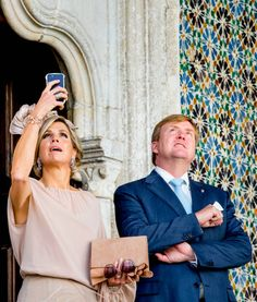 King WillemAlexander of The Netherlands and Queen Maxima of The Netherlands visit visit Palacio da Vila on October 12 2017 in Sintra Portugal
