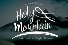 Holy Mountain by Siwox Smoke on Creative Market
