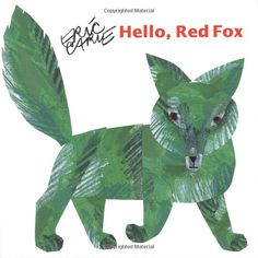 "Hello Red Fox by Eric Carle: Readers are instructed to stare for ten seconds at the boldly colored animal on the left side of the spread, then transfer their unblinking gaze (more like glaze at this point) to the blank white page on the right. If they do that successfully, a shadowy image of the animal appears in its complementary color! (What happens between the eye and the brain is called ""simultaneous contrast after-image."") #Book #Kids #Colors"