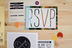 44 of the best FREE fonts for wedding invitations. Colourful modern neon black and white wedding invitations