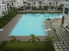 """Free shape 490 sq m pool built at project """"Palm Meadows"""", by Splended Aparna - a project of 353 villas, built at Kompall, Hyderabad."""