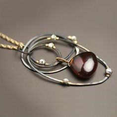 RESERVED  Wire Wrapped Garnet and Crystal Dotted by fussjewelry, $178.00
