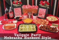 Nebraska Football Party spread with Smart & Final via @MomEndeavors  #ChooseSmart