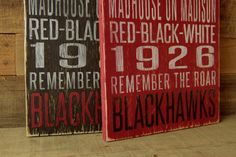 Chicago Blackhawks Distressed Wood SignGreat by SportsSigns