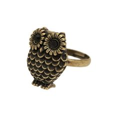 Owl Ring You Up (795 RUB) ❤ liked on Polyvore featuring jewelry, rings, accessories, anillos, owl, women, colorful rings, feather pendant, metal jewelry and feather jewelry