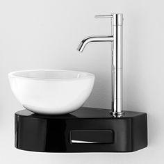 Håndvask Compact Black and white  V