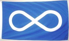 METIS BLUE NATIVE FLAG BANNER 3' X 5' FEET LARGE FLAG NEW IN PACKAGE