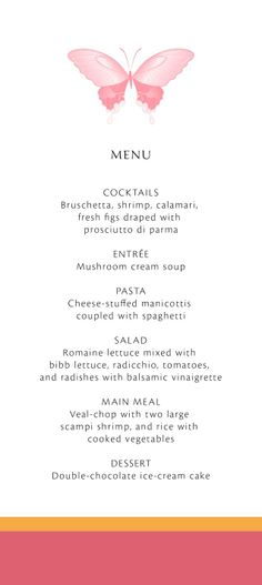 Wedding Menu #WeddingMenu