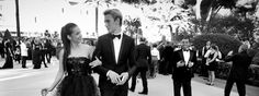 Barbara Palvin and Lucky Blue Smith in #Armani at Cannes