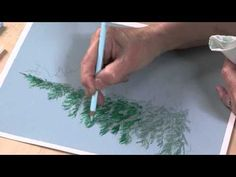 Colored Pencil Techniques: Easy Landscape Painting (Preview) - YouTube