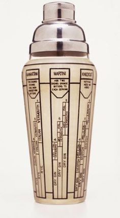 All Mad Men need a retro cocktail shaker.