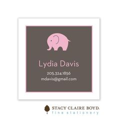 Stacy Claire Boyd | Big Love - Pink Folded Enclosure Card