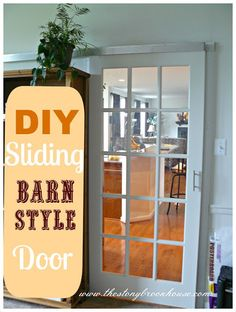 Great idea for walk in pantry and laundry room doors