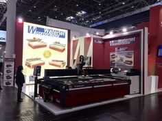 Welcome to GLASSTEC 2016, Düsseldorf, where Waterjet Corporation is exhibiting its latest hi-tech Waterjet Cutting Machine mod. Classica CL510 with 4.130 Bar Kmt pump and 5 axis cutting technology suitable to cut accurately up to 150 Mm thickness. GLASSTEC continues through Friday, September 23rd, HALL 15 STAND D50
