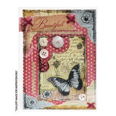 Crafty Individuals CI-296 - 'Steampunk Butterfly' Art Rubber Stamp, 65mm x 90mm - Crafty Individuals from Crafty Individuals UK
