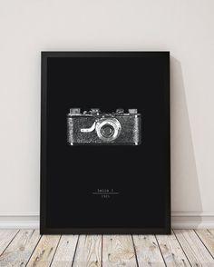 Macchina fotografica Leica dell'annata illustrazione di INKSdecor