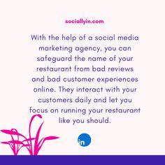 Social Media Agency - The Best Marketing & Advertising Solutions Social Media Marketing Agency, Influencer Marketing, Marketing And Advertising, Bad Reviews, Customer Experience, The Help, Encouragement, Names, Restaurant