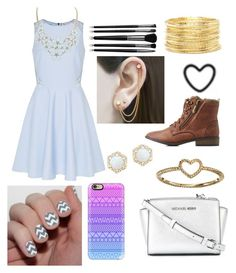 """Church Outfit #103"" by liziekay ❤ liked on Polyvore featuring Ted Baker, MICHAEL Michael Kors, LC Lauren Conrad, Forever 21, Qupid, Casetify, Embers Gemstone Jewellery and Illamasqua"