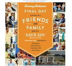 off at tommy bahamas F&F Sale See Images, Family Day, Tommy Bahama, Coupon Codes, Coupons, Coding, Man Shop, Coupon, Programming