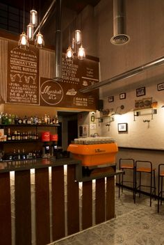 MARSHALL&CO Coffee&Drinks  #interiorismo #diseñodeinteriores #branding  #mostrador
