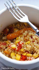 . Najpyszniejsze dietetyczne przepisy w internecie! Dietetyczne dania, zdrowa żywność, zdrowe życie!: Wyśmienity kuskus z papryką i kukurydzą